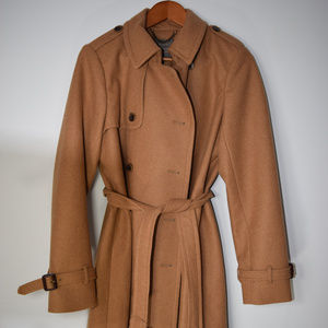 Like New! J.Crew wool cashmere trench